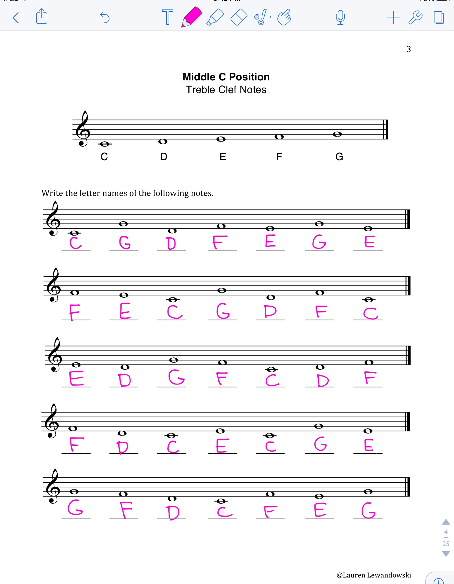 Note Naming Worksheets (PDF) | Piano with Lauren