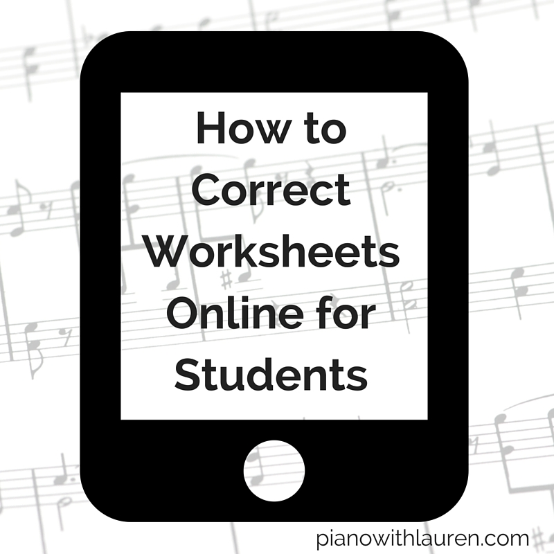 How to Correct Worksheets Online | Piano with Lauren