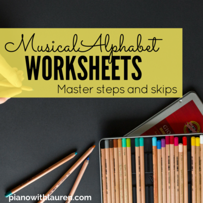 musical alphabet worksheets