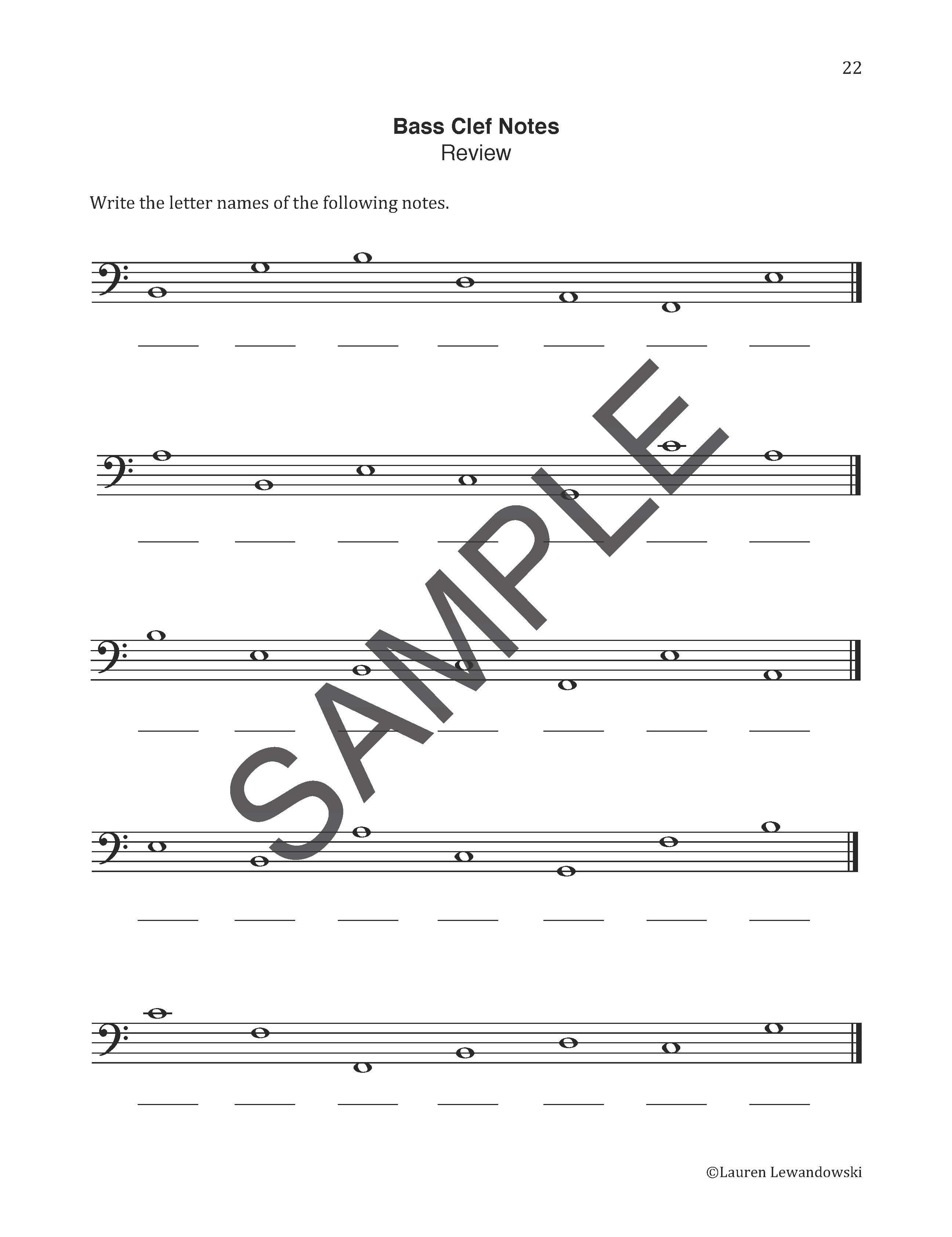 worksheet Note Naming Worksheet note naming worksheets piano with lauren notes preview pages page 6