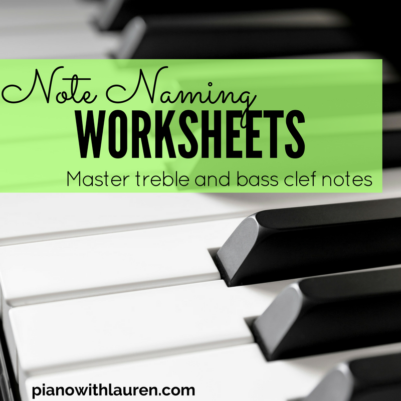 Note Naming Worksheets | Piano with Lauren