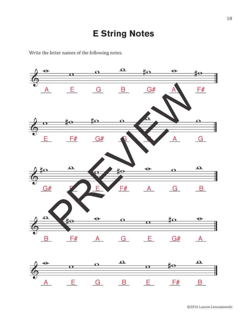 Violin Note Speller for Beginners (PDF Download) | Violin Worksheets
