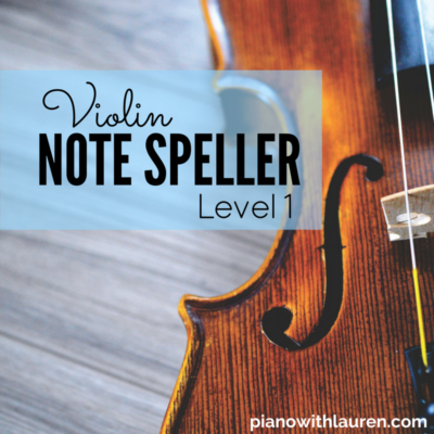 Violin Note Speller