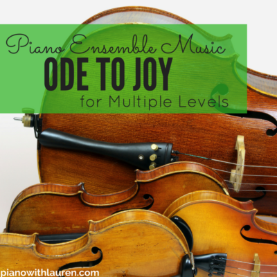 Ode to Joy Piano Ensemble Music