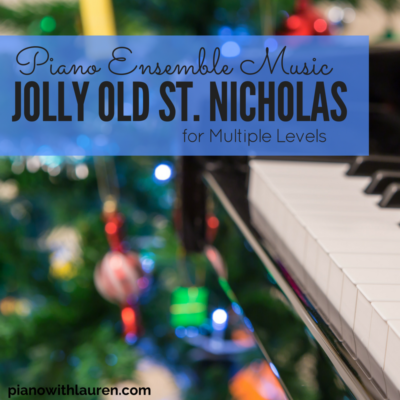 Jolly Old St. Nicholas Piano Ensemble Music