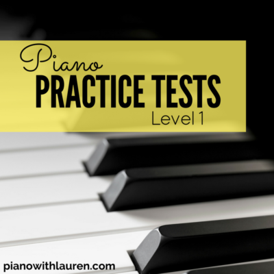 practice piano tests