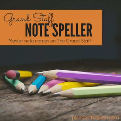 Grand Staff Note Speller