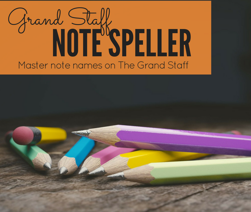New Product! Grand Staff Note Speller