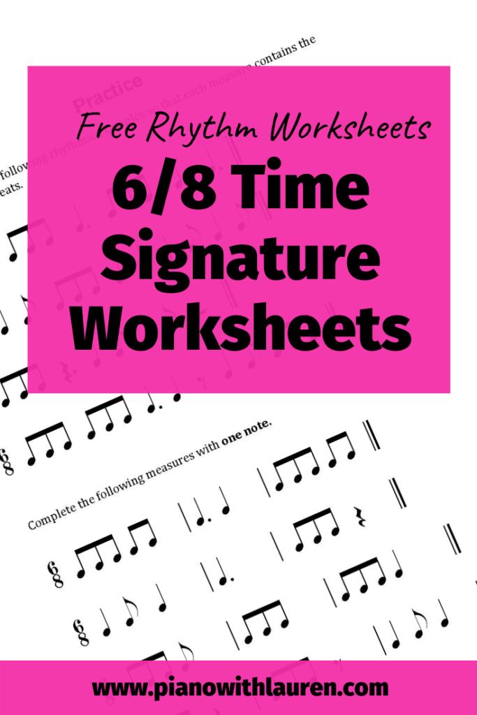 Free Rhythm Worksheets   6/8 Time Signature Worksheets