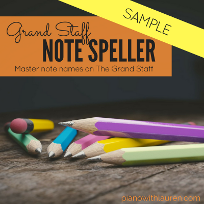 Grand Staff Note Speller Sampler