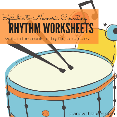Rhythm Worksheets: Writing Counts